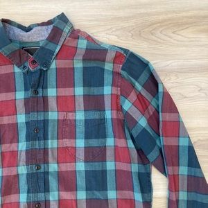 Obey Plaid Button Up